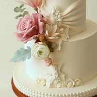 Wedding Cake with Angels