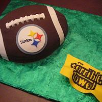 Steelers football cake