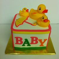 Block Cake with Ducks by lanett