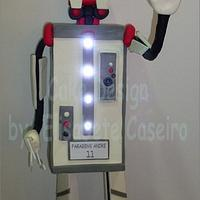 Speaking Robot cake with lights and sound