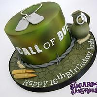 Call Of Duty 16th Birthday Cake