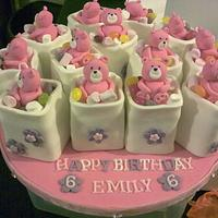 Teddy Bear Mini cakes