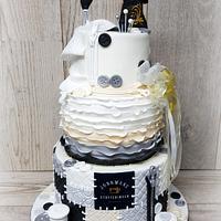 Singer machine sewing cake