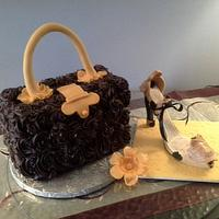 Purse Cake & High Heel Shoe