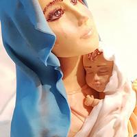 Virgin Mary holding baby Jesus