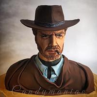 Clint Eastwood bust cake