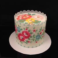 Cross stitches cake