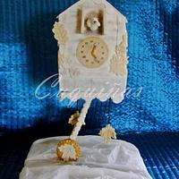 White cuckoo clock