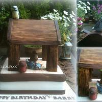 bird table cake