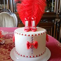 cake topper red shoes