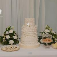 Wedding Lace and Ruffles in White