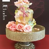Worldcancerday Sugar Flowers Collaboration and Sugarflowers and cakes in bloom : light en hope