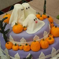 Halloween/Baby Shower cake