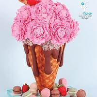 Mama's Boys Collaboration: Ice Cream Cone Peonies