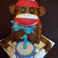 Sock Monkey 1st Birthday