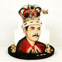 Freddy Mercury cake lover