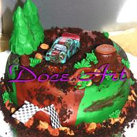 a walk on the forest cake