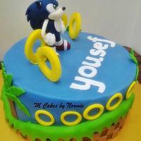 Sonic Hedgehog Theme Cake