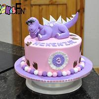 Purple Dinosaur Birthday Cake