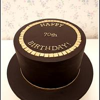 Chocolate Gold Birthday Cake