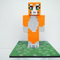3D - Stampy Cat - Minecraft Cake