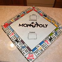 Monopoly board birthday cake