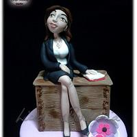TEACHER CAKE by Linda Bellavia Cake Art