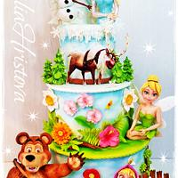 Cake with favorite characters