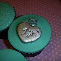 Tiffany cupcakes by Sally O'Rourke