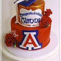Arizona Graduation Cake  by lorieleann