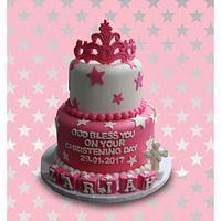 Christening Crown Cake