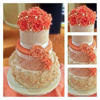 My second wedding cake by Karen