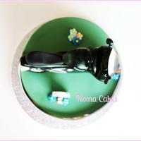 Tarta moto Kawasaki - Kawasaki Motorcicle Cake