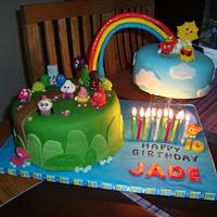 10th Birthday Moshi Monster Cake
