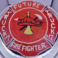 Firemans buttercream cake