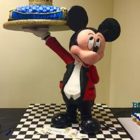 3D gravity defying Mickey Mouse cake