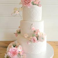 Summer Pink Weddingcake