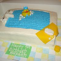 Ducky Bath Cake