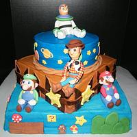 Toy Story/Super Mario Cake