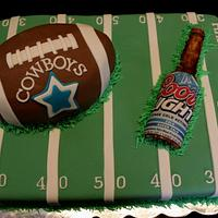 Football and Beer cake