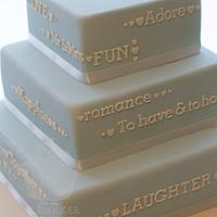'tell your story' cake