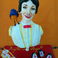 Mary Poppins cake collaboration