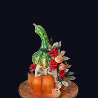 Gourd and pumpkin 3D cake