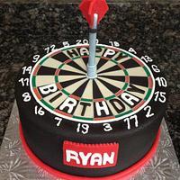 Dart Board Birthday Cake