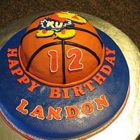 KU Basketball Cake