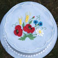 Summer Stitchwork Royal Iced Cake