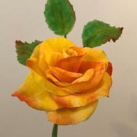 Flor realizada con tela comestible