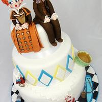 Madhatter Wedding Cake