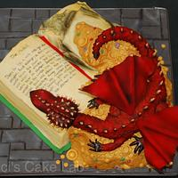 The Hobbit book cake