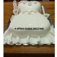 Bridal Shower Cake by BlueFairyConfections